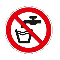 980127 - Pictogram 'GEEN DRINKWATER'